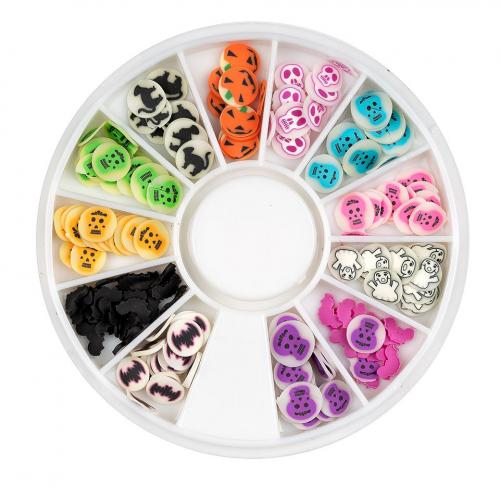 Discuri Fimo - Carusel 12 Modele Halloween Scary Party - Nail Art -