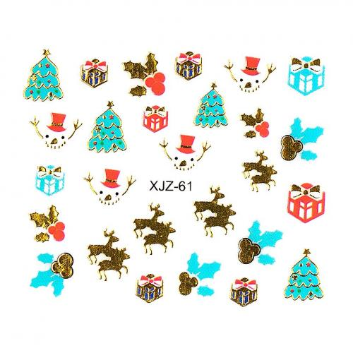 Sticker 3D Unghii LUXORISE XJZ-61 - Christmas Collection - Nail Art -