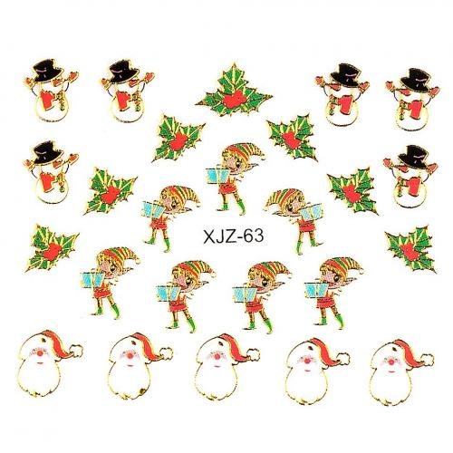 Sticker 3D Unghii LUXORISE XJZ-63 - Christmas Collection - Nail Art -