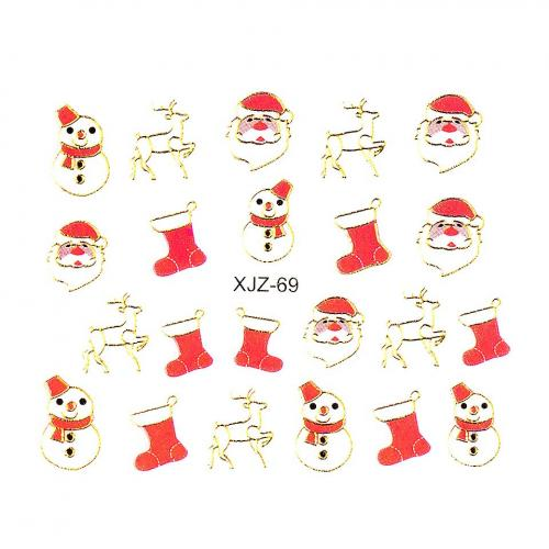 Sticker 3D Unghii LUXORISE XJZ-69 - Christmas Collection - Nail Art -