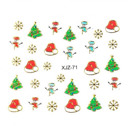 Sticker 3D Unghii LUXORISE XJZ-71 - Christmas Collection - Nail Art -
